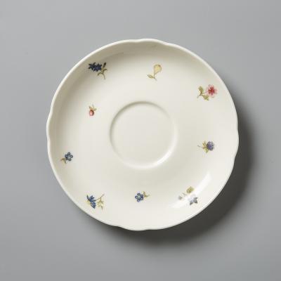 德国Seltmann Weiden陶瓷咖啡杯垫盘  盘子彩色小花14.5cm