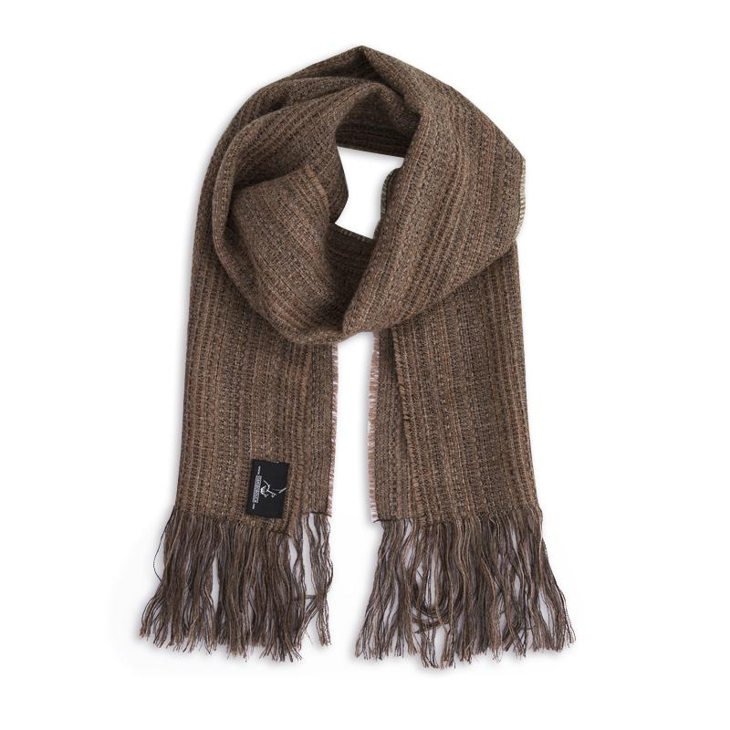 新西兰Stansborough指环王系列灰羊毛编织围巾 棕色