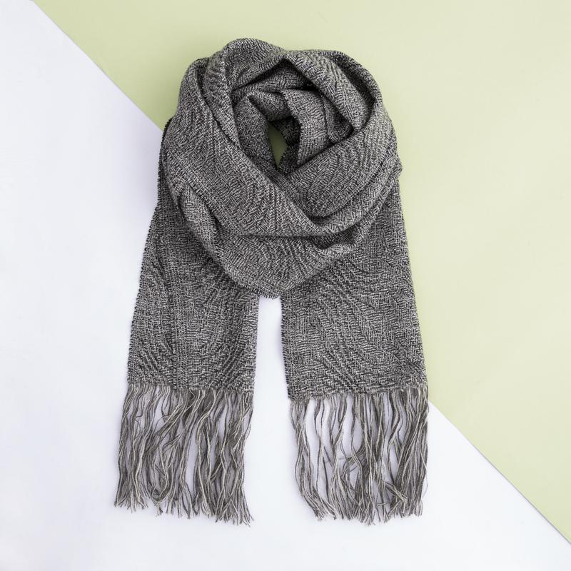 新西兰原产Stansborough甘道夫灰羊毛针织围巾 银灰