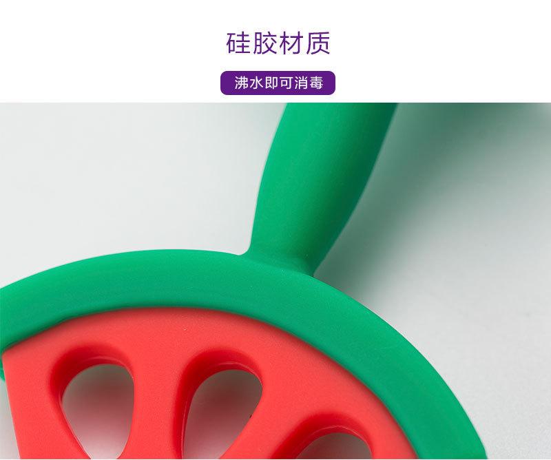 mathos loreley宝宝牙胶咬胶磨牙棒苹果形状:硅胶材质,沸水即可消毒
