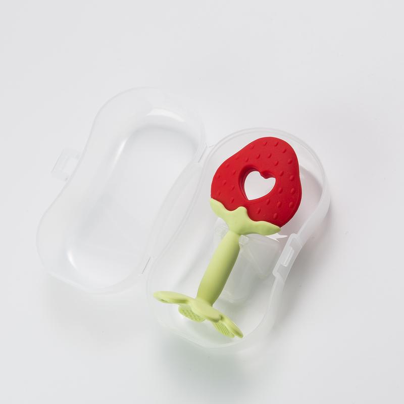 韩国原产MathosLoreley 宝宝牙胶咬胶磨牙棒草莓型