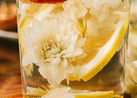 菊花柠檬蜂蜜饮