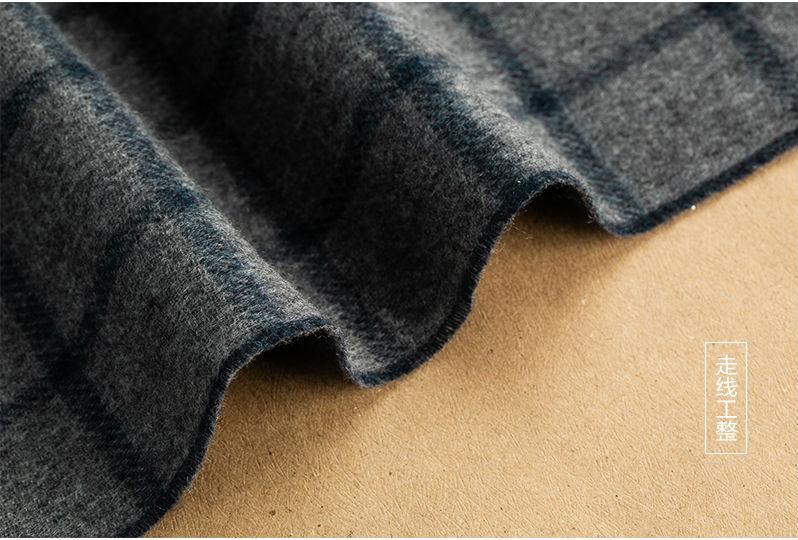 意大利MA.AL.BI.双层羊绒围巾锁边