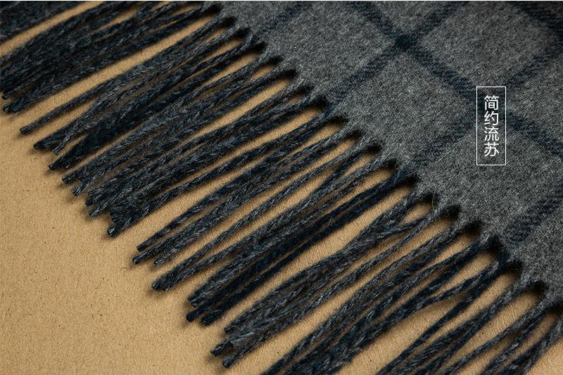 意大利MA.AL.BI.双层羊绒围巾简约流苏