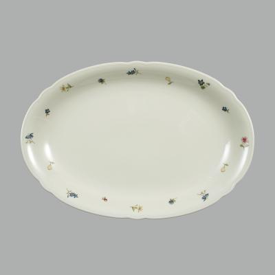 德国原产Seltmann Weiden瓷餐盘  西餐具彩色小花系列31cm