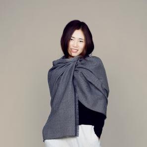 意大利原产MA.AL.BI.羊毛披肩女士披肩 灰色