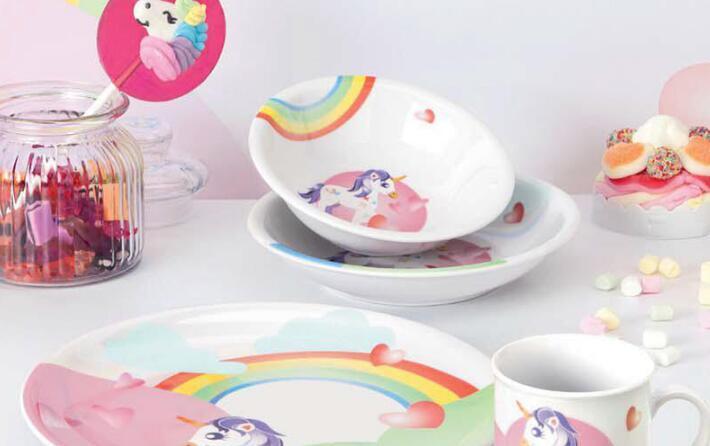 德国Seltmann Weiden儿童瓷器餐具独角兽系列产品