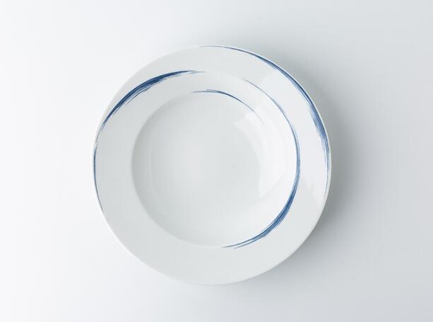 Seltmann Weiden蓝描系列瓷器餐盘正面照