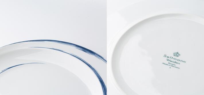 Seltmann Weiden蓝描系列瓷器餐盘 细节展示