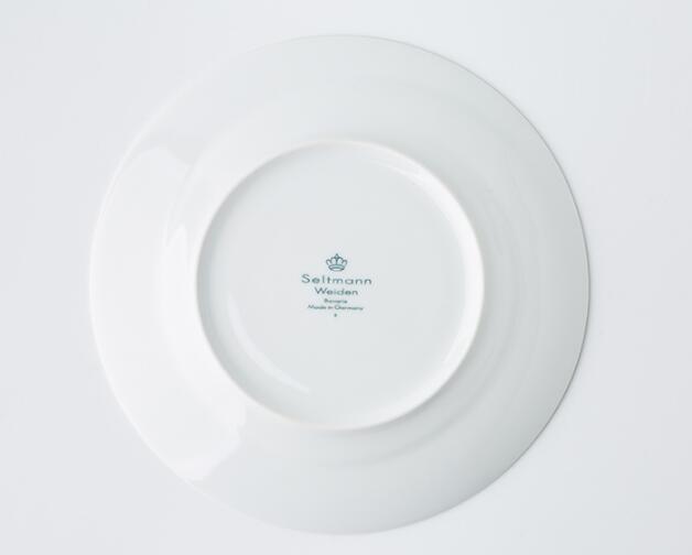 德国Seltmann Weiden早餐盘  23cm蓝描系列瓷器餐盘背面