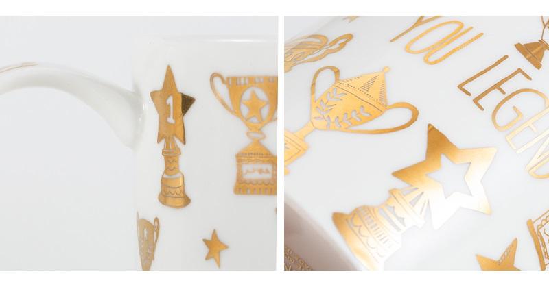 英国丹侬Dunoon荣誉殿堂系列一代传奇骨瓷杯细节图案