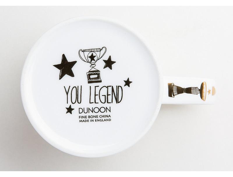 英国丹侬Dunoon荣誉殿堂系列一代传奇骨瓷杯杯底细节