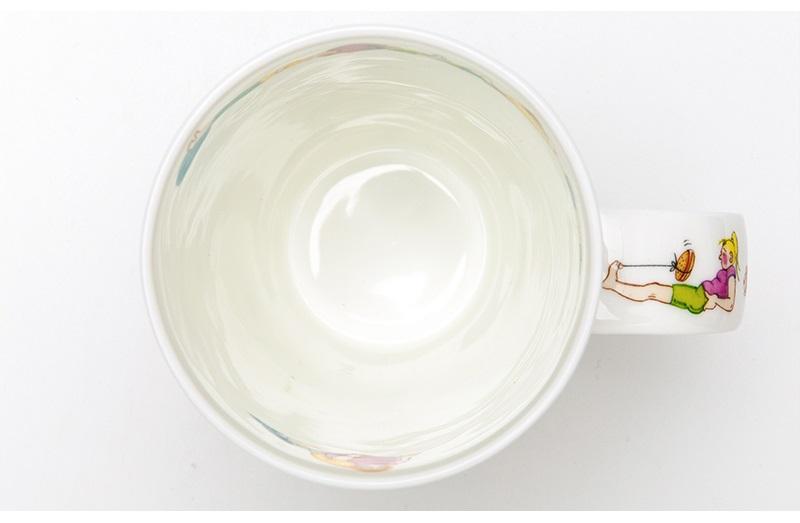 英国丹侬Dunoon骨瓷水杯马克杯茶杯趣味瑜伽杯口