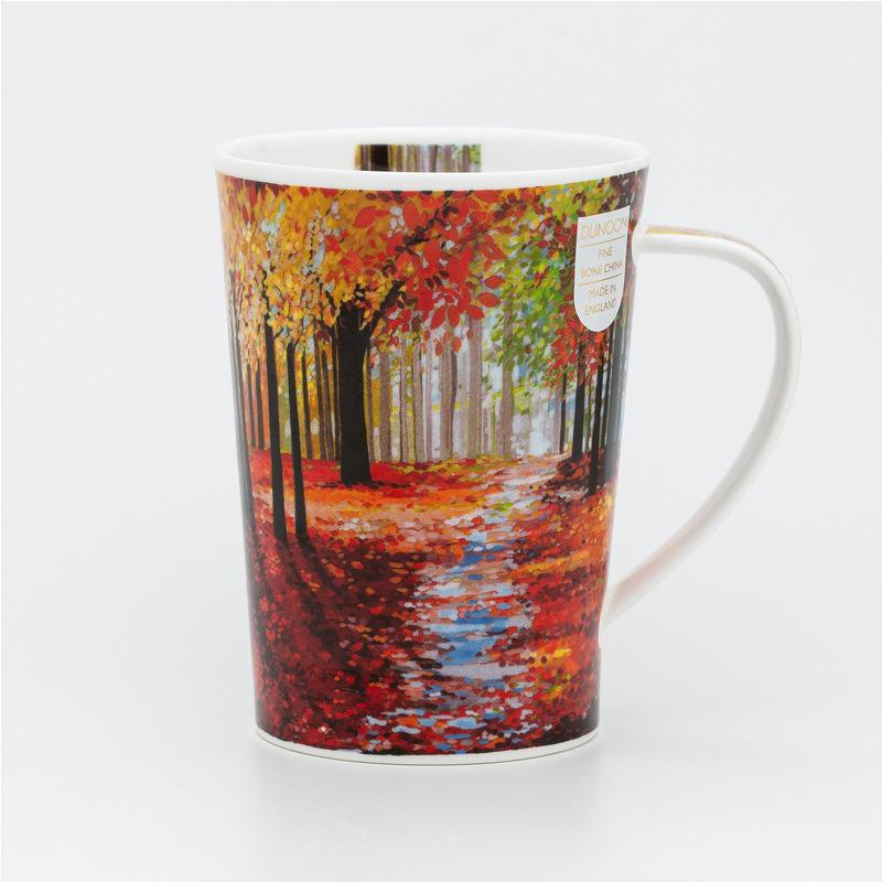 DUNOON 英国丹侬Dunoon骨瓷茶杯马克杯林间小道遍山红叶