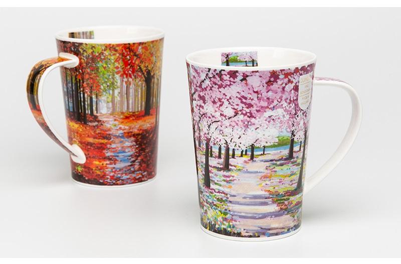 英国dunoon丹侬骨瓷杯马克杯林间小道系列茶杯