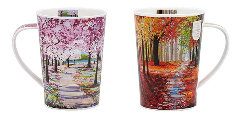 英国dunoon丹侬骨瓷杯茶杯林间小道系列马克杯
