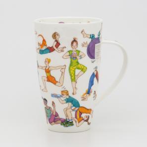 DUNOON 英国丹侬Dunoon骨瓷水杯马克杯茶杯趣味瑜伽