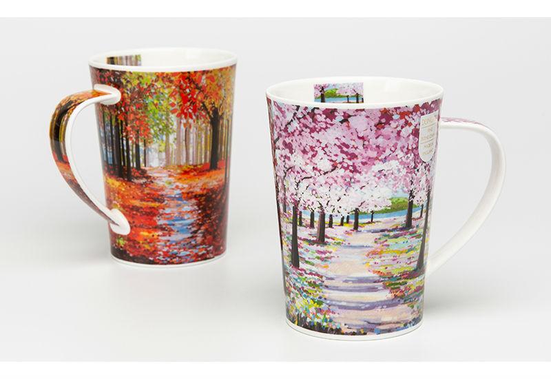 英国原产丹侬Dunoon骨瓷茶杯林间小道系列马克杯