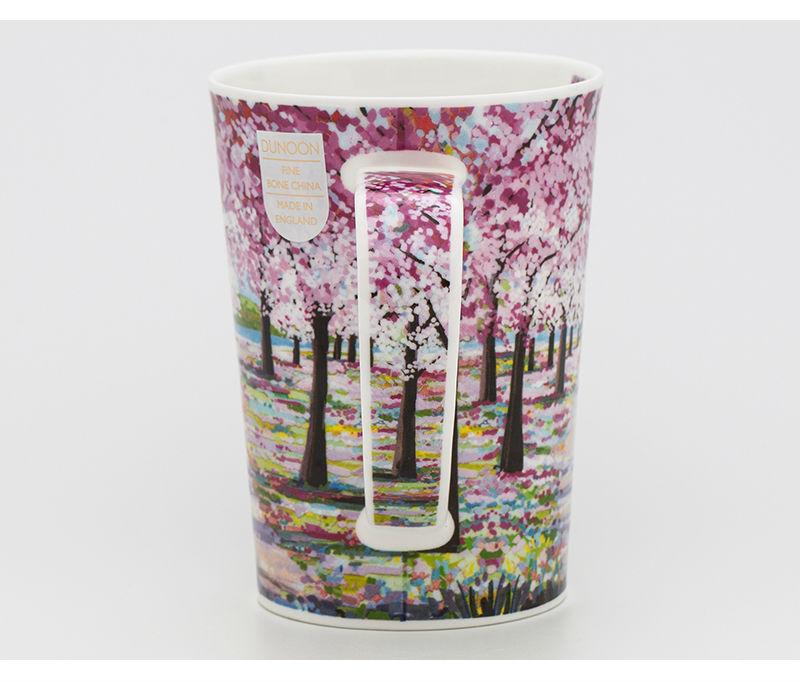 英国丹侬Dunoon骨瓷茶杯林间小道系列落英缤纷马克杯侧面