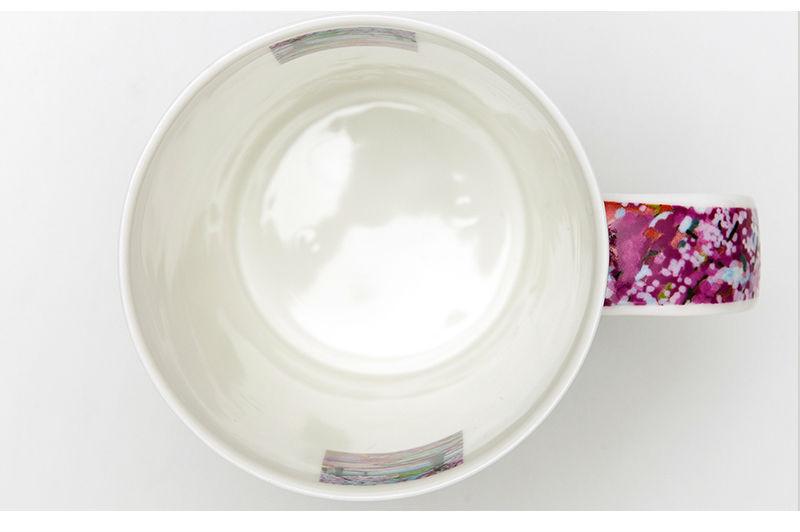 英国丹侬Dunoon骨瓷茶杯林间小道系列落英缤纷马克杯杯口