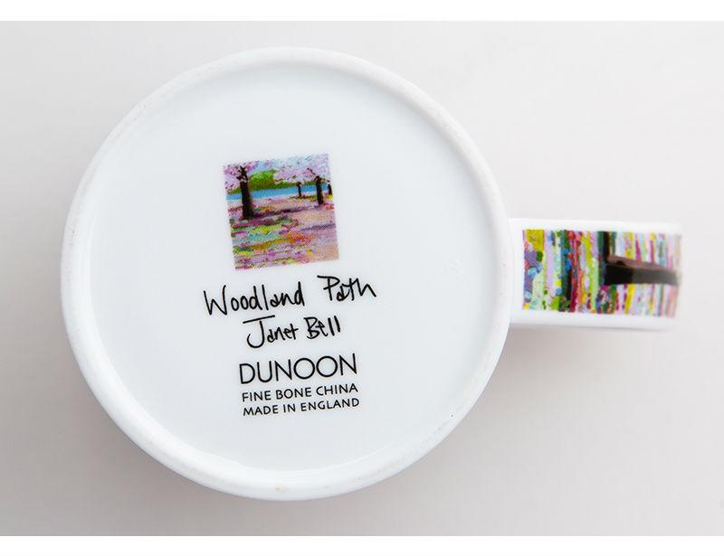 英国丹侬Dunoon骨瓷茶杯林间小道系列落英缤纷马克杯杯底