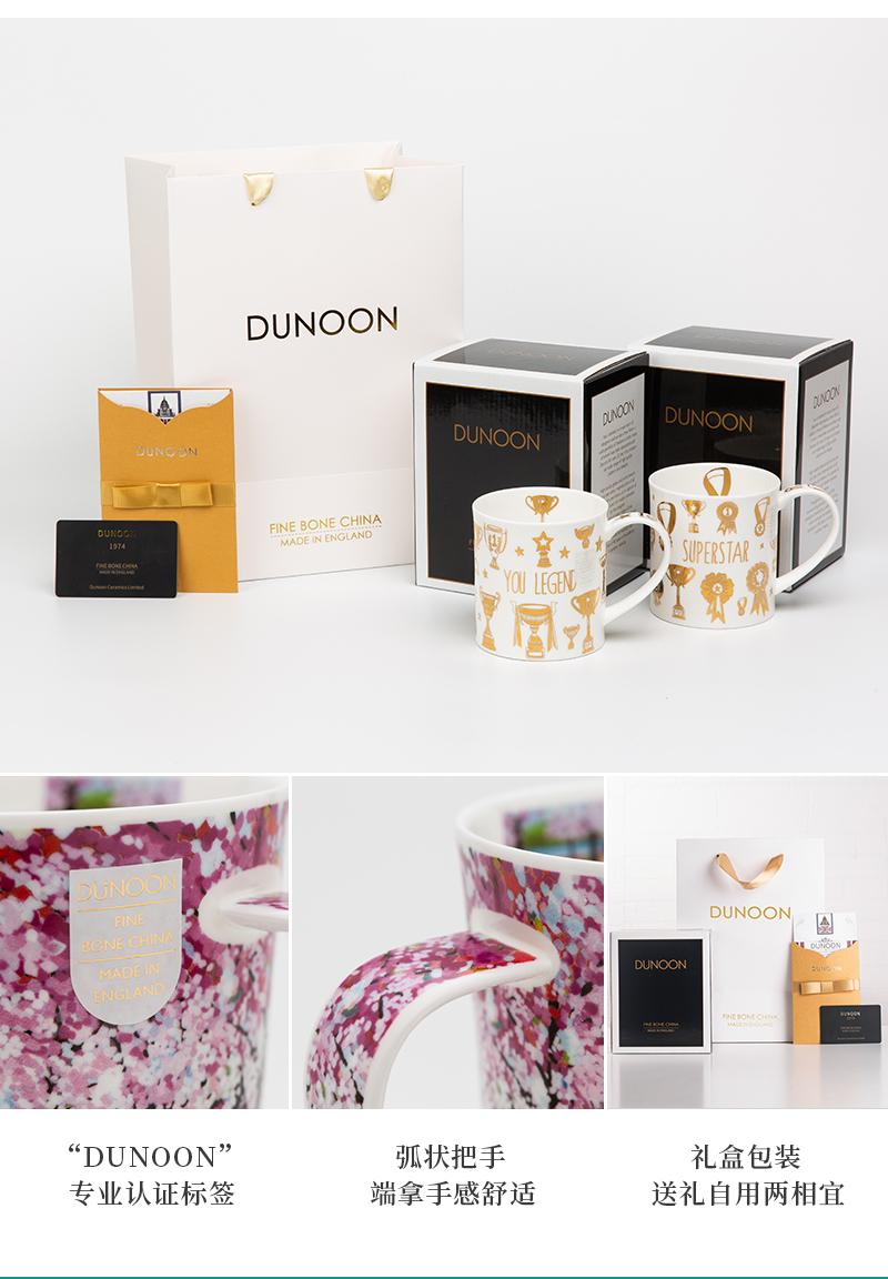 英国丹侬Dunoon骨瓷茶杯林间小道系列落英缤纷马克杯包装