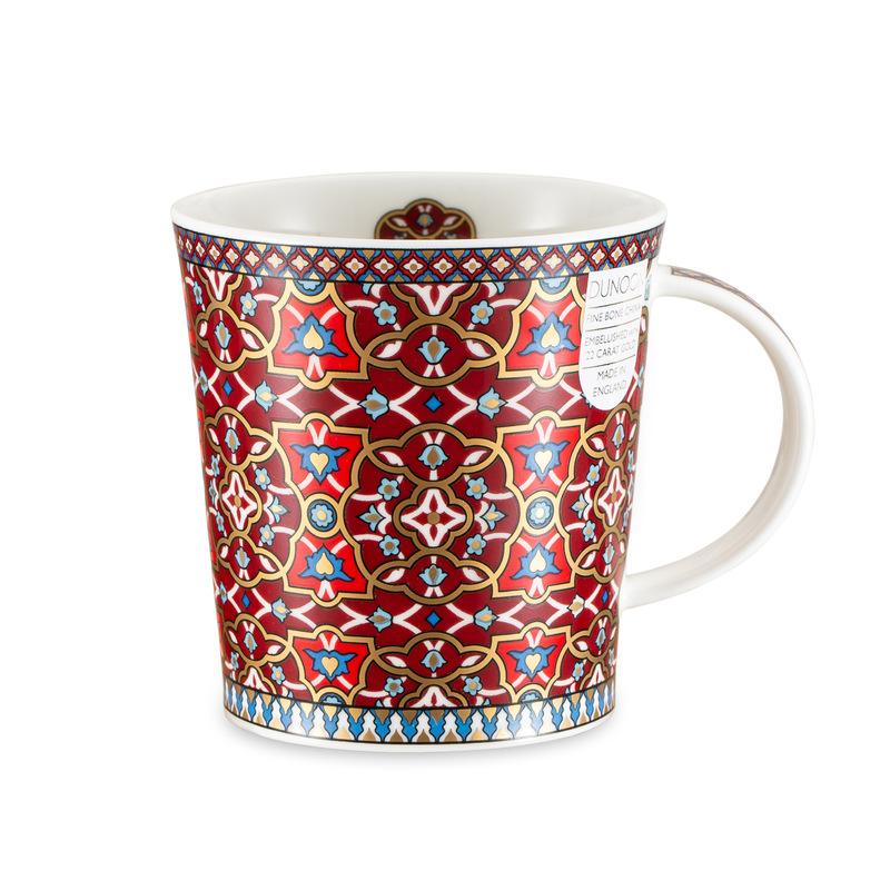 DUNOON 英国DUNOON丹侬骨瓷杯马克杯波斯风格花朵图案