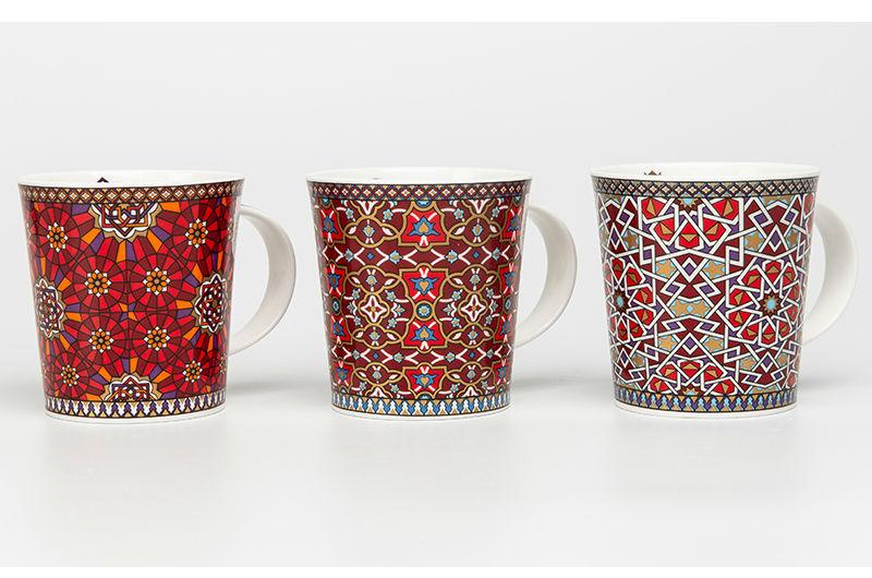 英国DUNOON丹侬骨瓷杯马克杯波斯风格茶杯