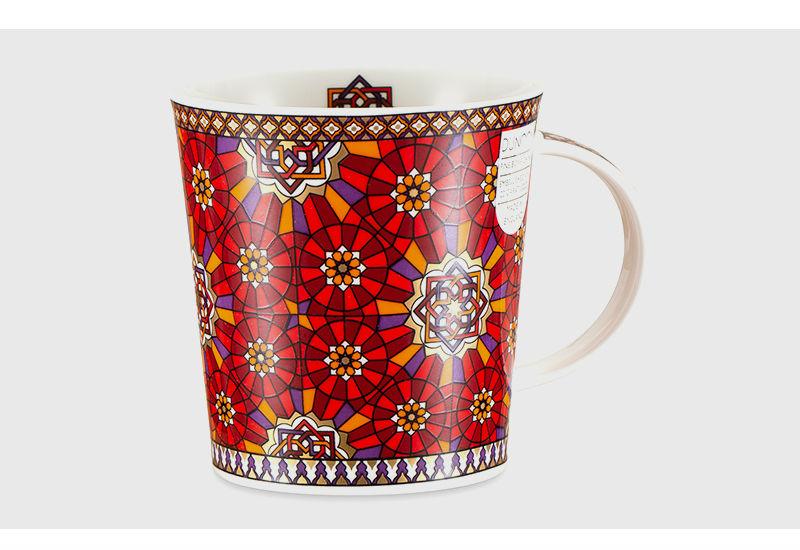 英国丹侬dunoon骨瓷杯波斯风格编结图案马克杯