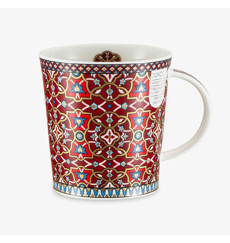 英国丹侬dunoon骨瓷杯波斯风格花朵图案马克杯