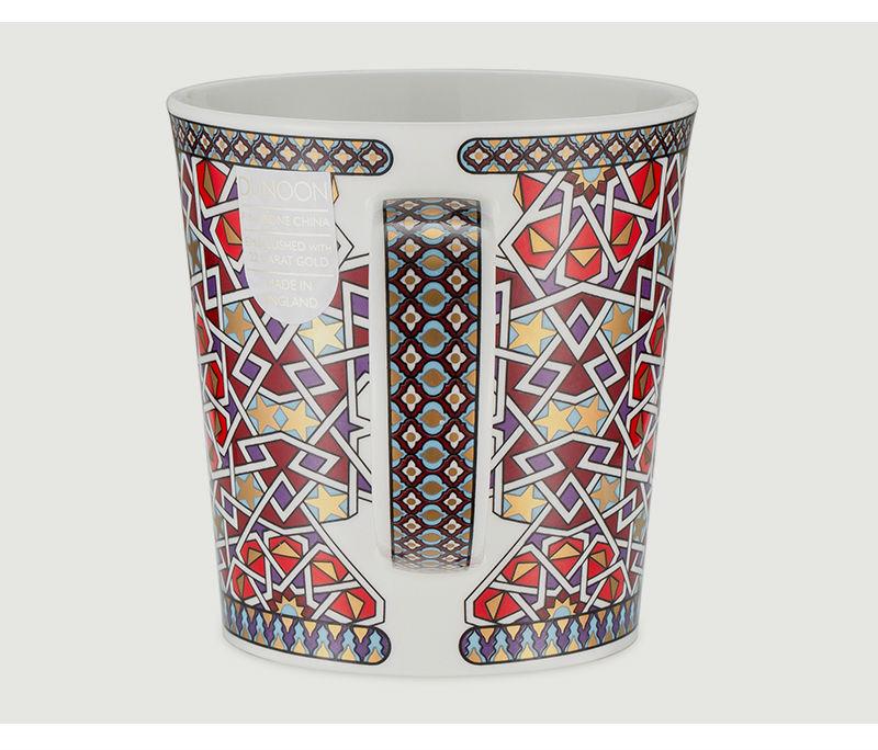 英国丹侬dunoon骨瓷杯波斯风格星星图案马克杯侧面