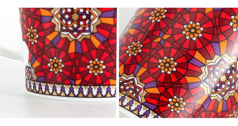 英国丹侬dunoon骨瓷杯波斯风格马克杯细节图案
