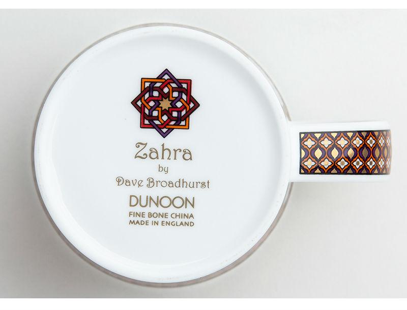 英国丹侬dunoon骨瓷杯波斯风格花朵编结图案马克杯杯底
