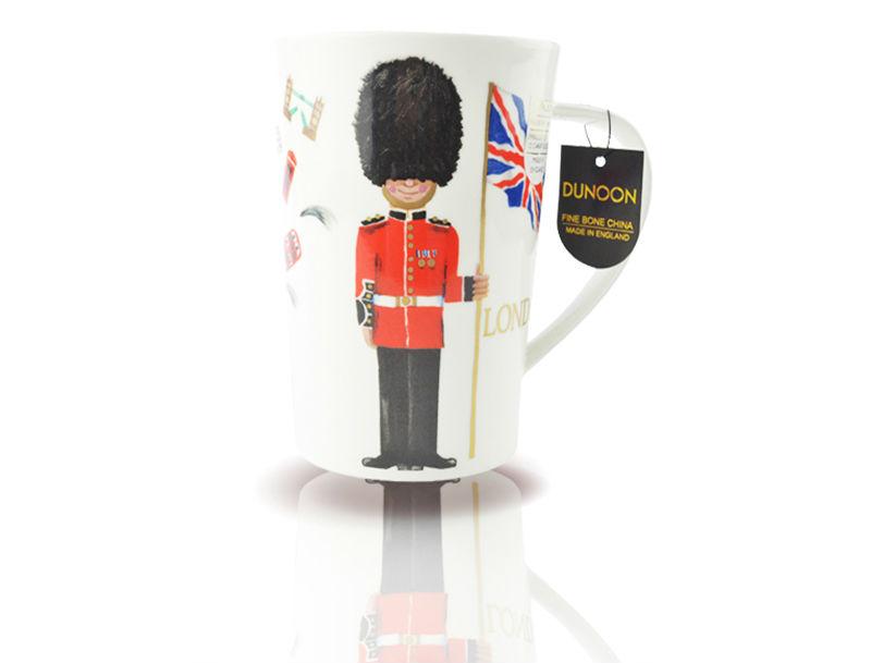 英国丹侬Dunoon骨瓷水杯马克杯茶杯伦敦卫兵骨瓷杯