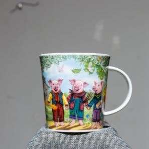 DUNOON 英国丹侬Dunoon骨瓷水杯马克杯茶杯三只小猪