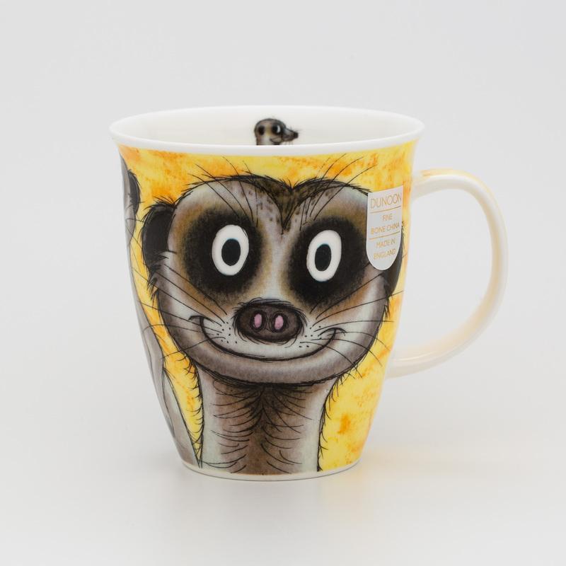 DUNOON 英国DUNOON丹侬骨瓷杯马克杯树獭狐獴