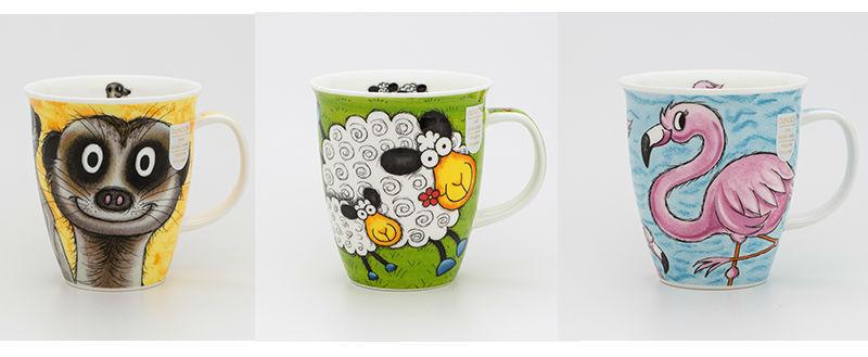 英国DUNOON丹侬骨瓷杯马克杯疯狂农场系列茶杯