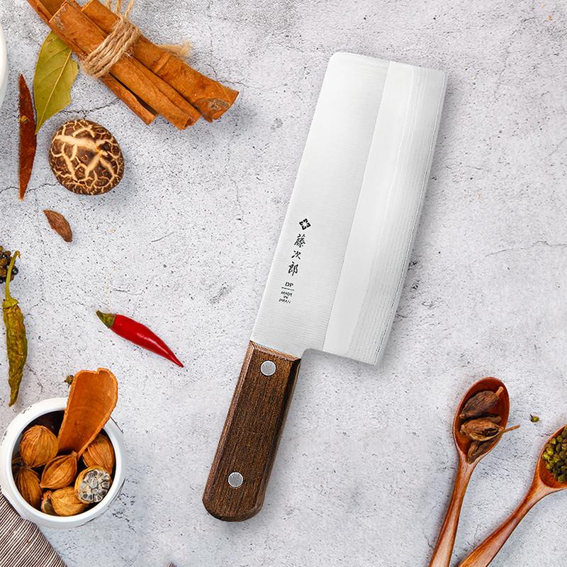 日本原产Tojiro藤次郎大马士革 中华刀菜刀日本刀F-991褐色