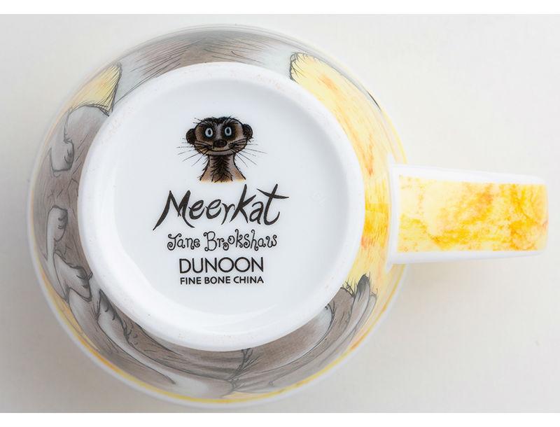 英国DUNOON丹侬骨瓷杯马克杯树獭狐獴水杯杯底