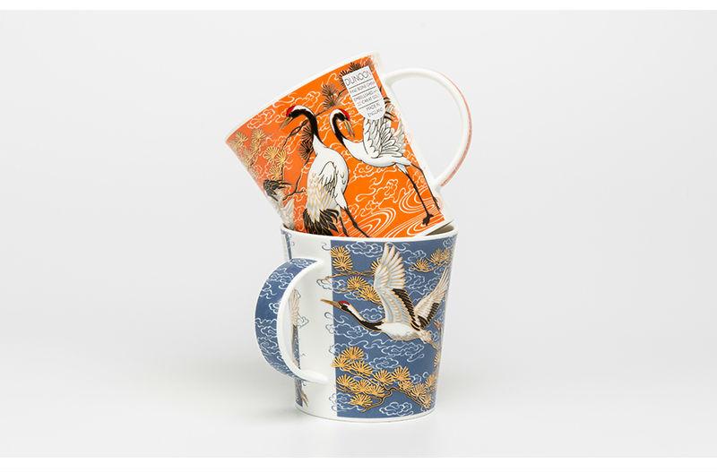 英国丹侬Dunoon骨瓷杯马克杯仙鹤系列水杯