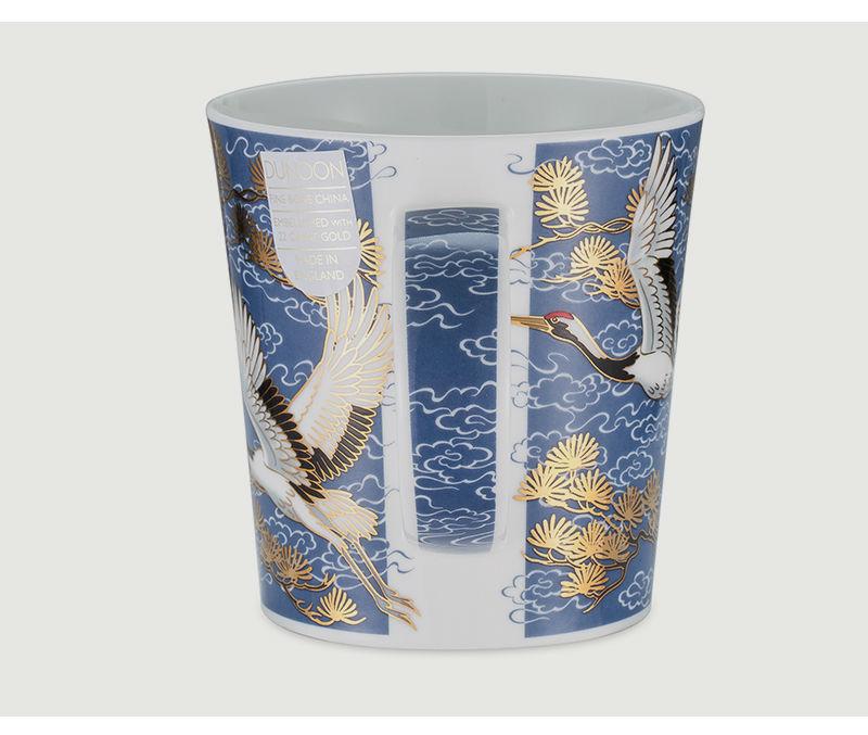 英国丹侬Dunoon骨瓷杯马克杯仙鹤系列水杯侧面图案