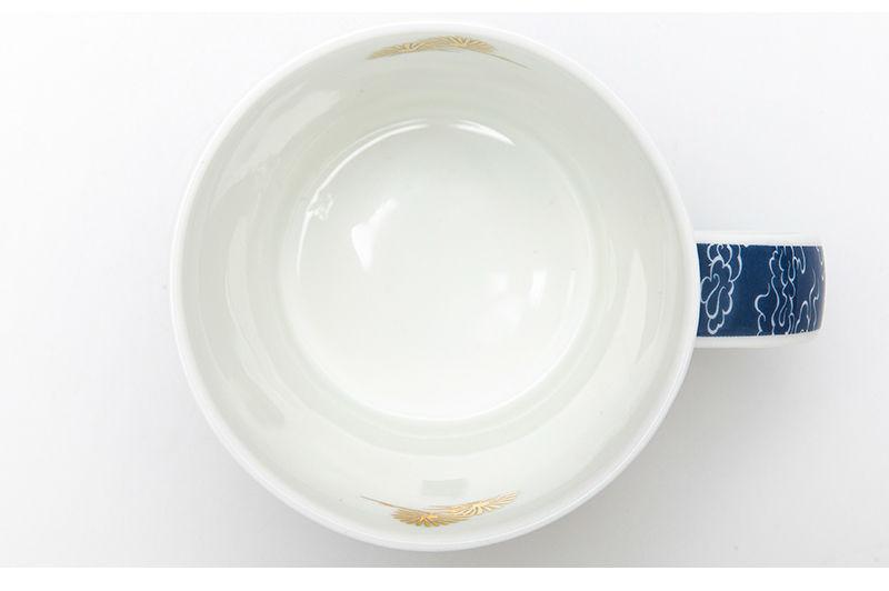 英国丹侬Dunoon骨瓷杯马克杯仙鹤系列水杯杯口