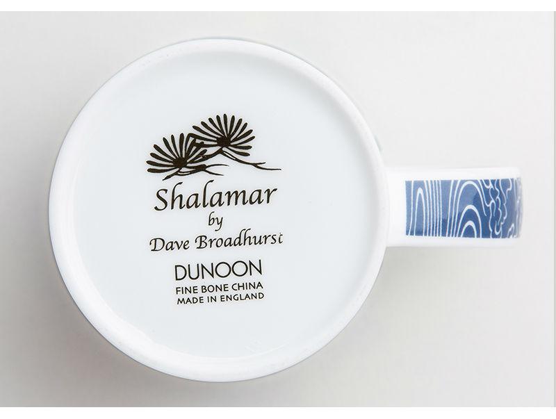 英国丹侬Dunoon骨瓷杯马克杯仙鹤系列水杯杯底