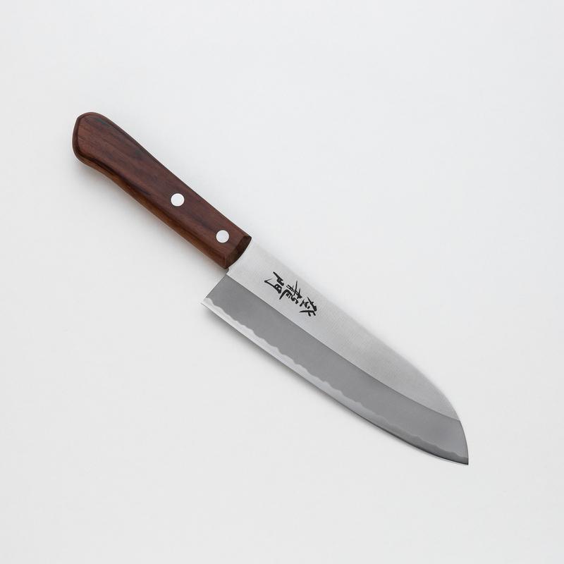 日本原产TOJIRO藤次郎登龙门 三德刀多用刀厨刀FG-512褐色