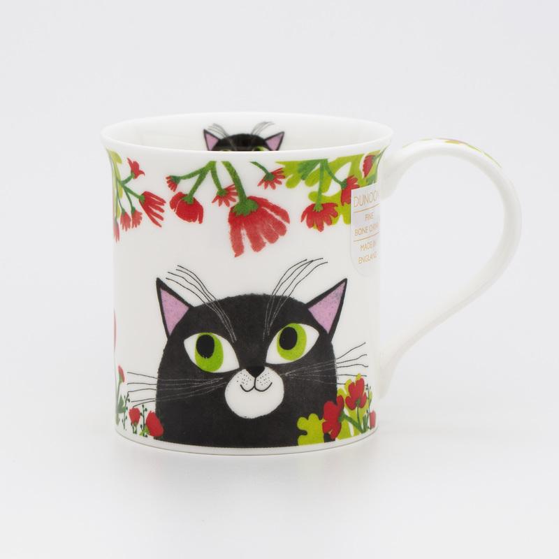 DUNOON 英国DUNOON丹侬骨瓷杯马克杯灵动的猫咪