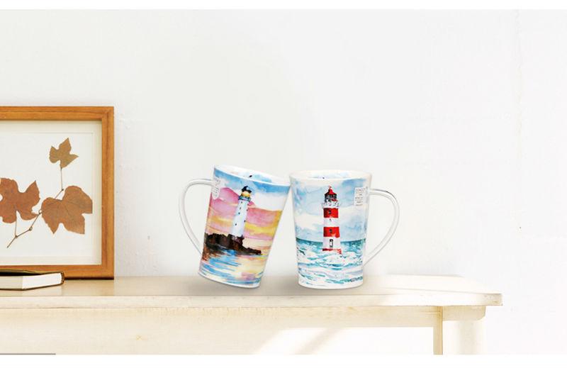 英国丹侬Dunoon骨瓷茶杯马克杯隐居地灯塔骨瓷杯情境图
