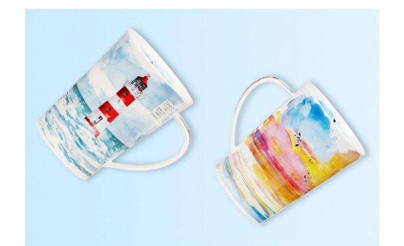 英国丹侬Dunoon骨瓷茶杯马克杯隐居地水杯情景图