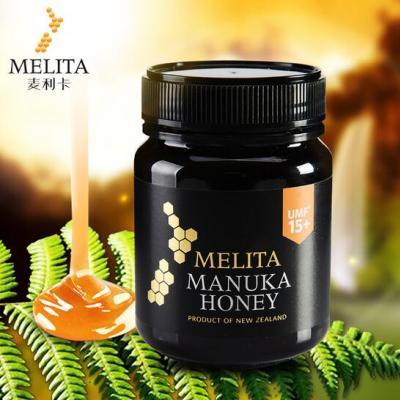 新西兰麦利卡Melita 麦卢卡蜂蜜UMF15+340g黑色